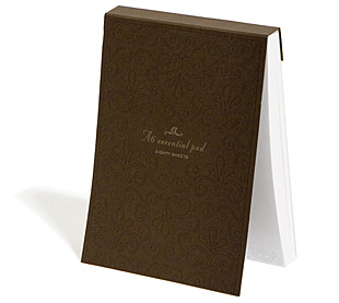 I HEART LUXE - daily women's shopping magazine » Blog Archive » Russell+Hazel - Audrey A6 Essential Note Pad from iheartluxe.com