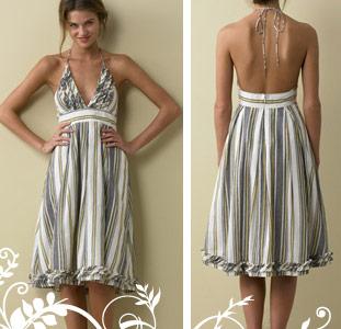 Modni žiri Striped-sylvan-dress