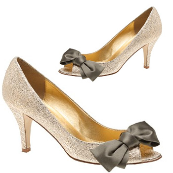 J. Crew - Lulu metallic-leather peep toes
