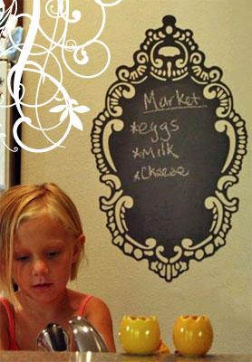 Rococo Oval Chalkboard
