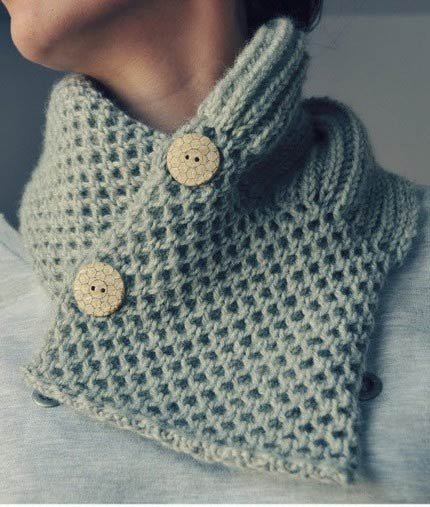 Elde - Grey Hand Knitted Neckwarmer